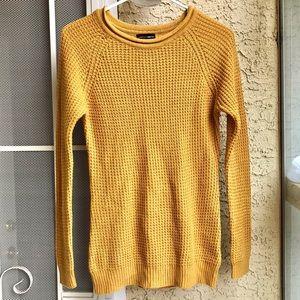 Ambiance Apparel gold tunic sweater, medium